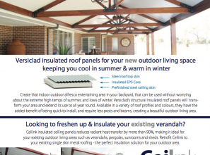 Versiclad structural insulated roof panels for your new outdoors living space