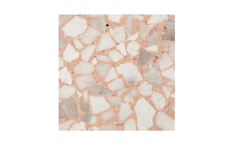 Hand Made Coral Terrazzo Tiles For Floors And Walls
