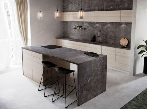 Six new surfaces for kitchen benchtops and bathroom vanities.