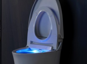 Combined toilet/bidet operated via a touchscreen LCD