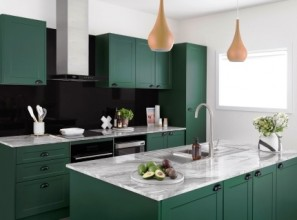 DIY flatpack kitchens in 6 colours from Bunnings