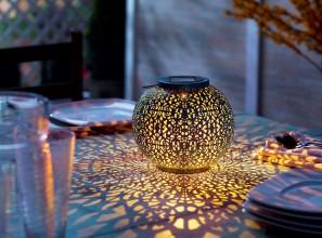 Solar powered garden lantern