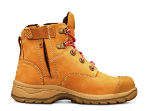 Lightweight safety women's work boots