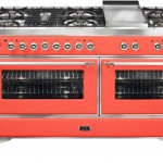 20181209A ILVE coral coloured oven