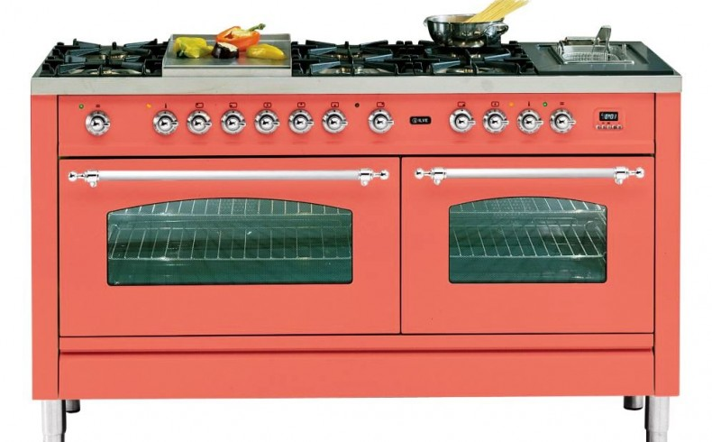 20181209C ILVE coral coloured oven