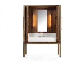 Bathroom credenza made with 50,000 year old Kauri wood