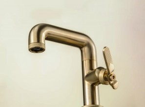 Industrial-style tapware for luxury bathroom-renovations