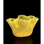 Venini & Co., Murano manufacturer Italy est. 1921 Fulvio Bianconi designer Italy 1915–96 Handkerchief (Fazzoletto) vase 1949 designed c. 1950–60 manufacturedglass (vetro a fili decoration) 19.8 x 34.0 x 21.7 cm