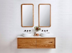 Timber vanity handmade to suit personal specifications
