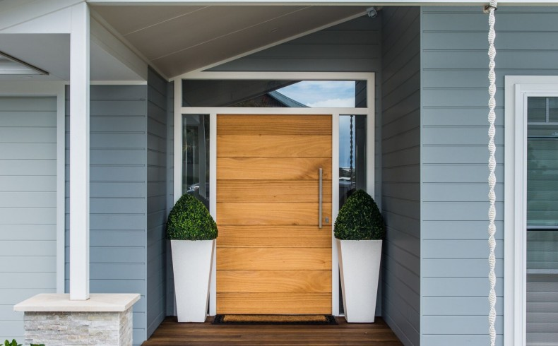 Shiplap Entry Door Handmade From Solid Timber To Match