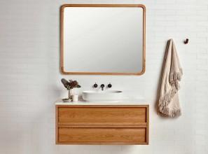 Handmade timber framed mirror