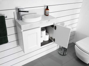 Vanity collection for small bathrooms and powder rooms