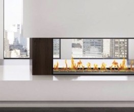Slimline double-sided bioethanol firebox
