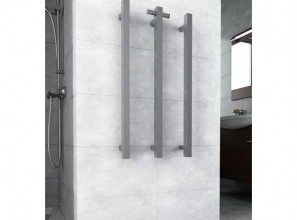 Square vertical heated towel rail