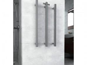 Square vertical heated towel rail