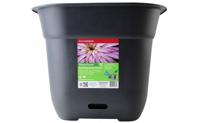 20190234A WaterSaver Contemporary Planter_500mm_Charcoal