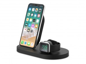 Wireless charging dock provides a 3-in-1 charging station to power your essential devices