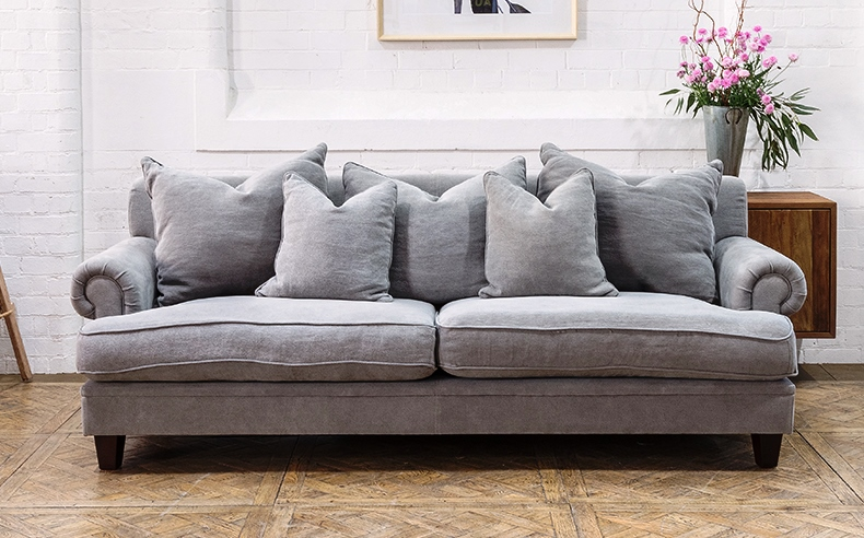 Linen Sofas With Duck Feather Cushions General
