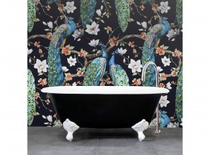 Cast iron clawfoot bath in three colours