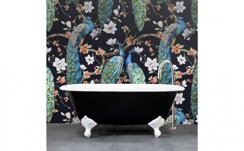 20190255C Highgrove Bathrooms Oliver Bath Black