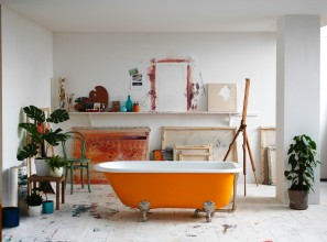 Luxury baths and basins in 200 colour finishes