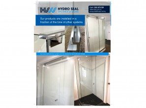 Frameless shower screen solution in a box