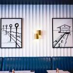 20190315D 3D Wall Panels Arcs120mm at Cravings Hotel Delaney