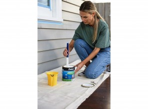 Repainting window frames and trims with Dulux Paints