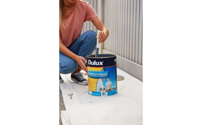 20190334A Dulux Paints painting the fence