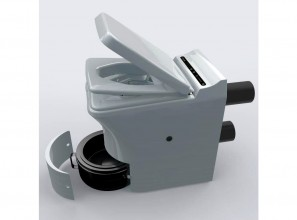 Incineration toilet that does not require sewer-connection or water-use