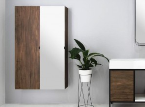 1500mm high wall-hung tallboy with optional mirror