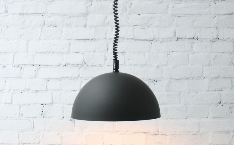 20190410A Fat Shack Vintage Dome Rise & Fall Pendant Light