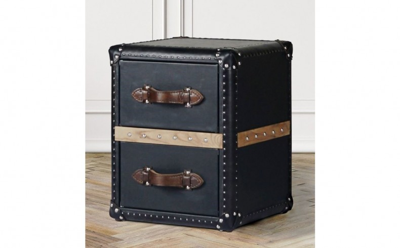 20190514F FAT SHACK VINTAGE Union Steamer Trunk Side Table