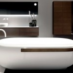 20190523A Falper Homey Freestanding Bath with towel rail benchmount basins