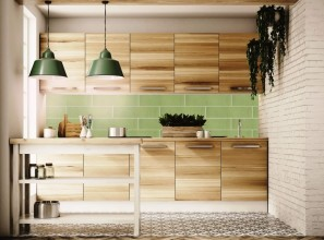 Decorative and subway tiles in a mix-and-match display