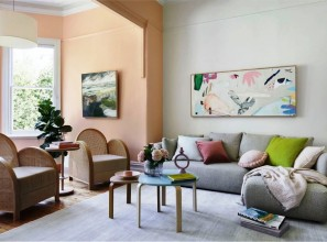 Living room makeover with Dulux