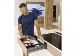 Docking drawer that charges your devices while inside the drawer