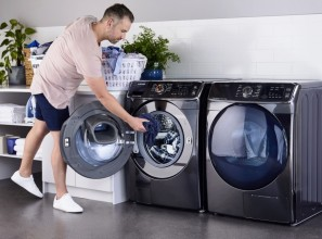 Three new washing machines and two dryers from Samsung