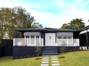 Transforming a 1960s cottage into a modern home with eye-catching façade.