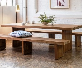 Outdoors furniture made from reclaimed teak