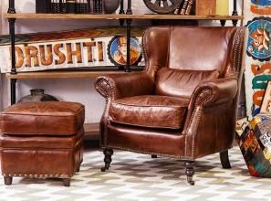 Vintage leather furniture range