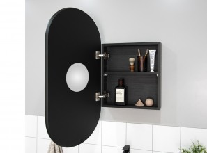 Shaving cabinet that can be wall-mounted or recessed into the wall