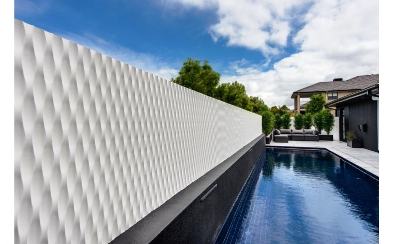 20190614A Waves 3D Wall Panels outdoor feature wall CTG16