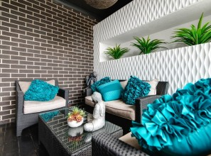 Polymer wall panels for decorating outdoors and in alfresco areas