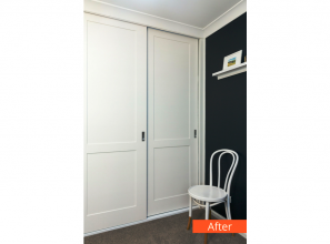Affordable wardrobe makeover with new doors