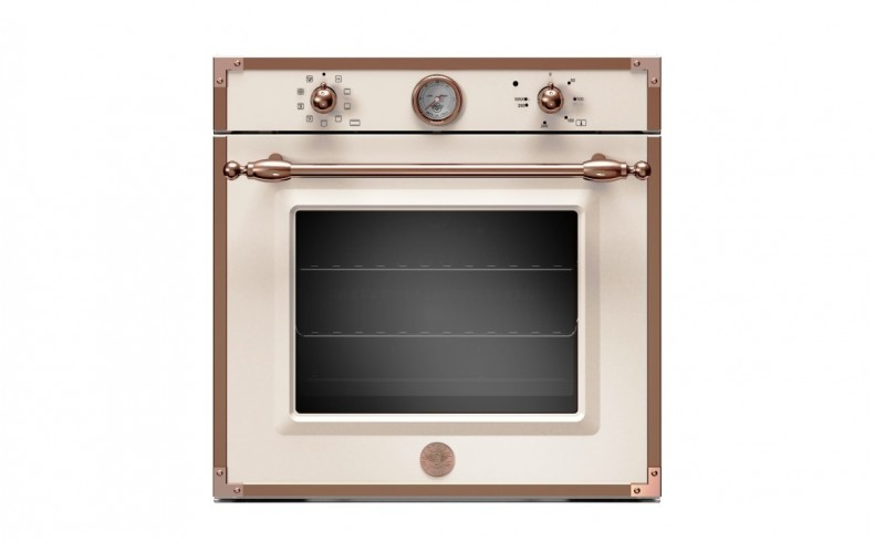 20190621B BERTAZONNI Heritage lectric oven 60cm ivory and rose gold