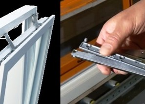 Mechanical support that makes it easier to close windows with large and heavy sashes