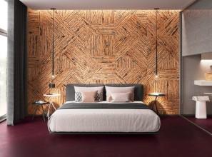 3D cork wall tiles