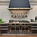 20190704C La Cornue 165 Chateau Matte Black brushed brass & SS with cabinets