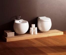 Globe-like shapes make for an unusual bathroom basin collection